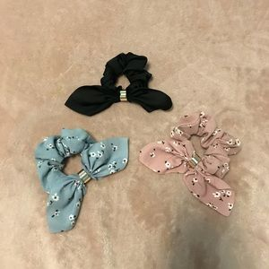 Accessories - Bow Scrunchie Trio
